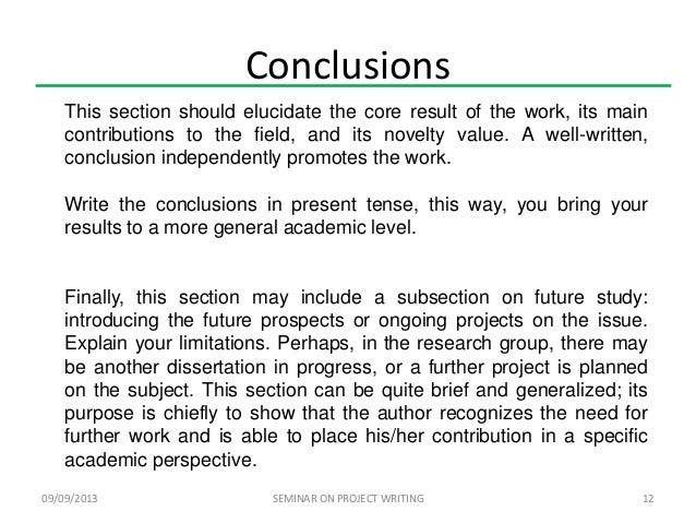Coursework conclusion example