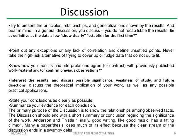 Example dissertation discussion