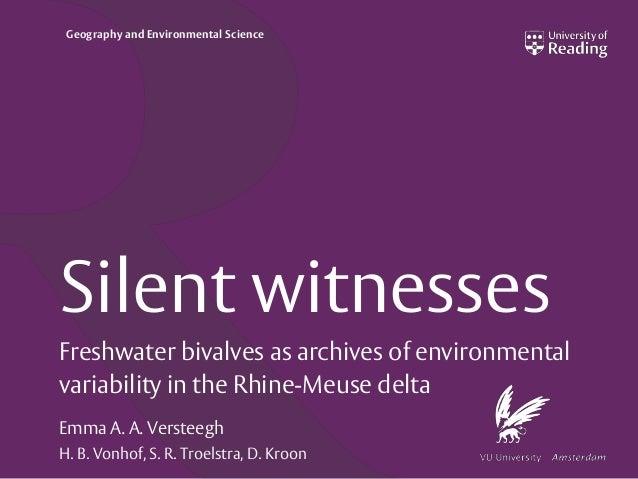 Seminar Silent Witnesses