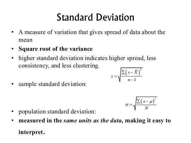 standard deviation and mean relationship meme