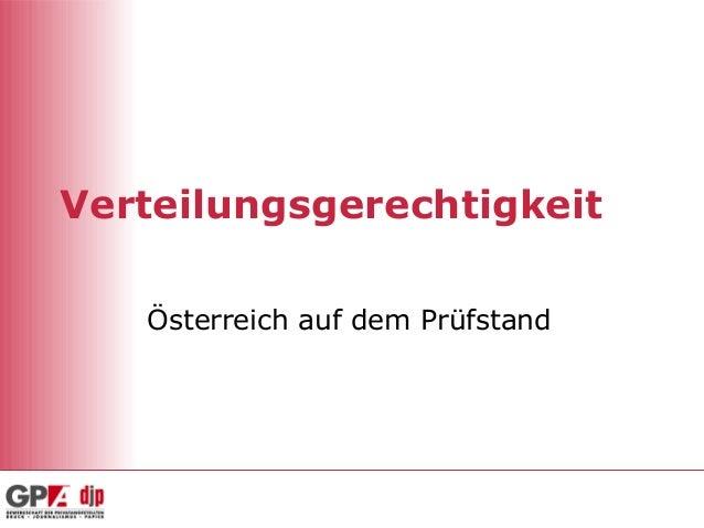 Verteilungsgerechtigkeit   Österreich auf dem Prüfstand