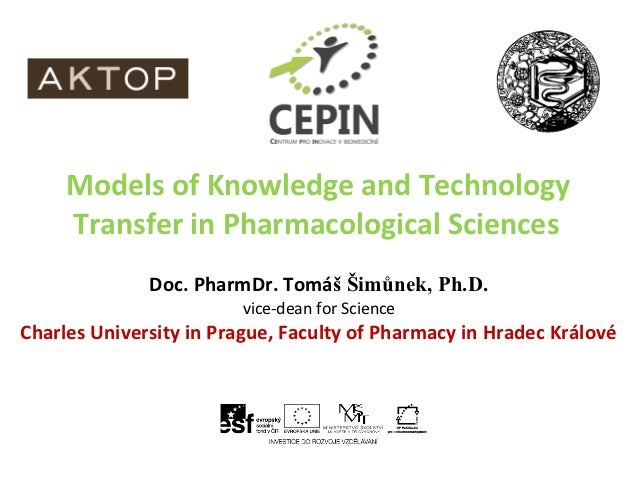 Models of Knowledge and Technology Transfer in Pharmacological Sciences