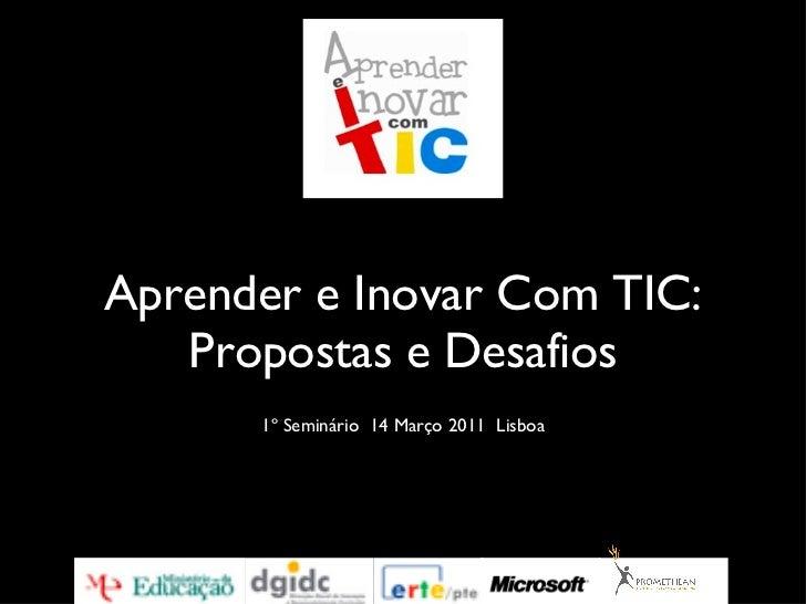 Aprender e Inovar com TIC em Portugal