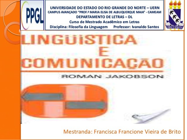 Seminário linguistica e comunicação jakobson