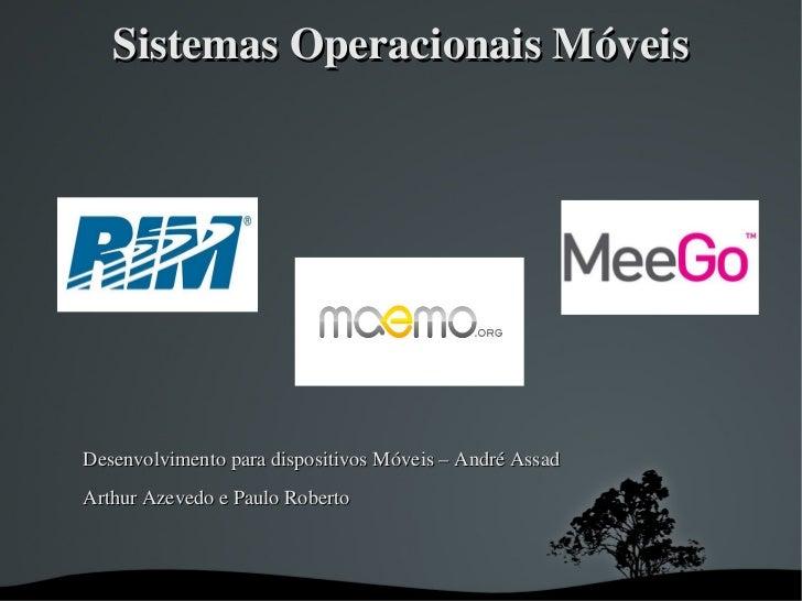 Seminário sistemas operacionais móveis