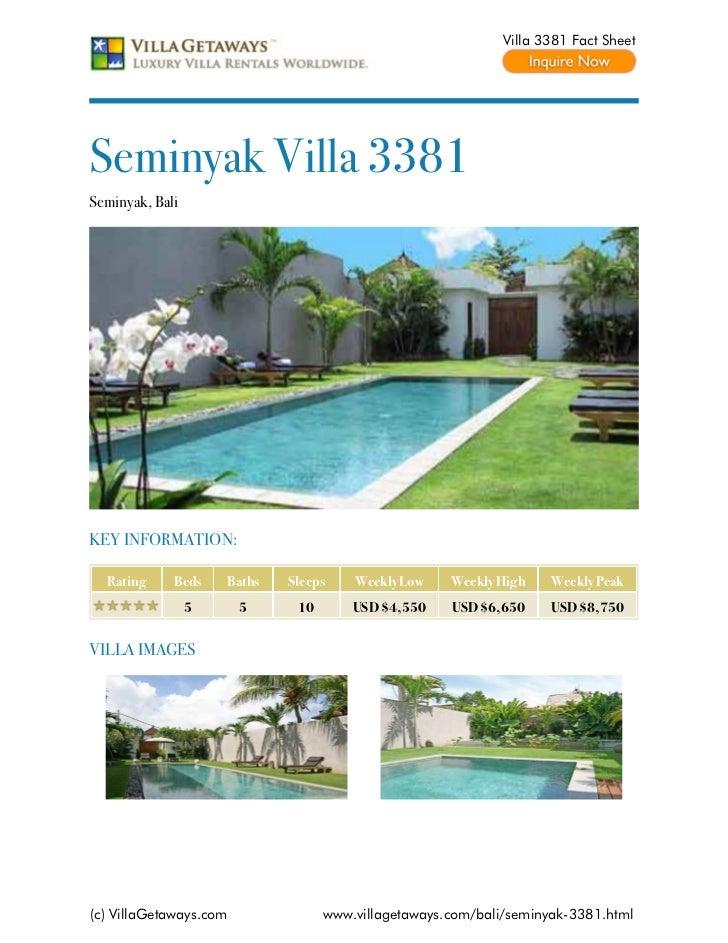 Seminyak villa 3381,bali