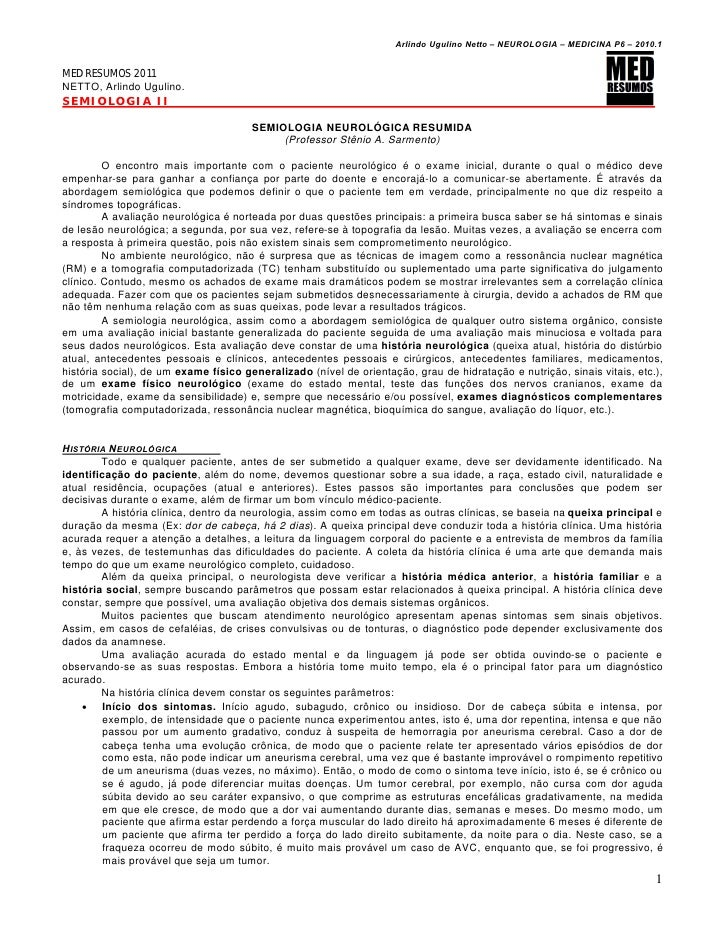 Semiologia 06   neurologia - semiologia neurológica pdf