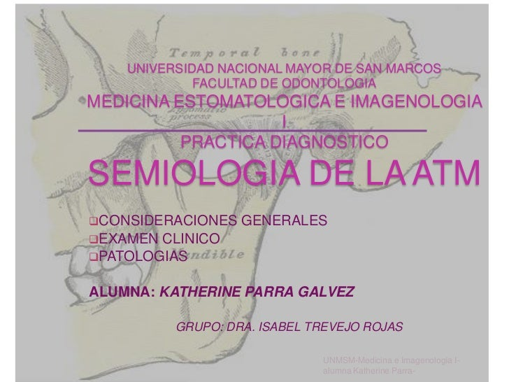 Semiologia de la atm