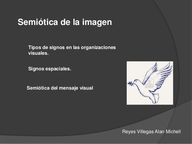 Semiótica de la imagen Tipos de signos en las organizaciones visuales. Signos espaciales. Semiótica del mensaje visual Rey...