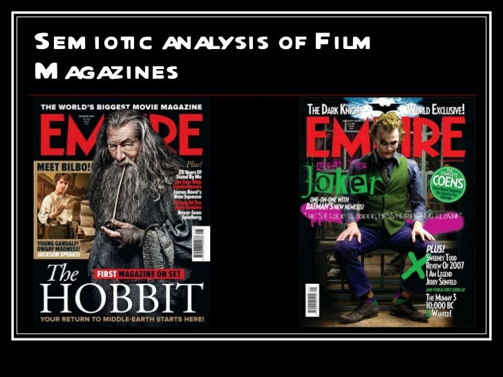 Semiotic analysis of Film Magazines