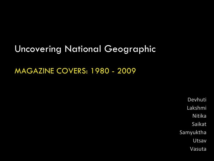 Semiotics Nat Geo Covers