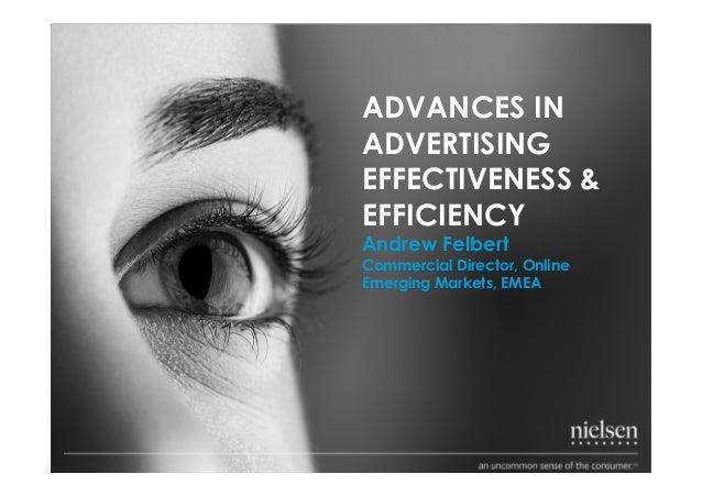 ADVANCES INADVERTISINGEFFECTIVENESS &EFFICIENCYAndrew FelbertCommercial Director, OnlineEmerging Markets, EMEA