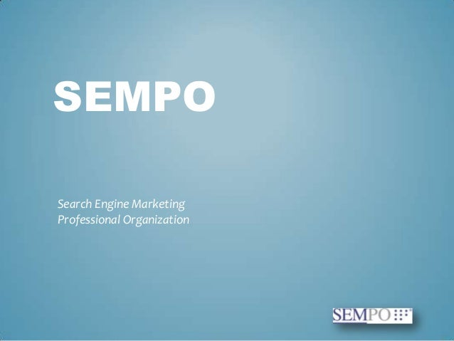 SEMPO Search Engine Marketing Professional Organization intro at WebIT Istanbul