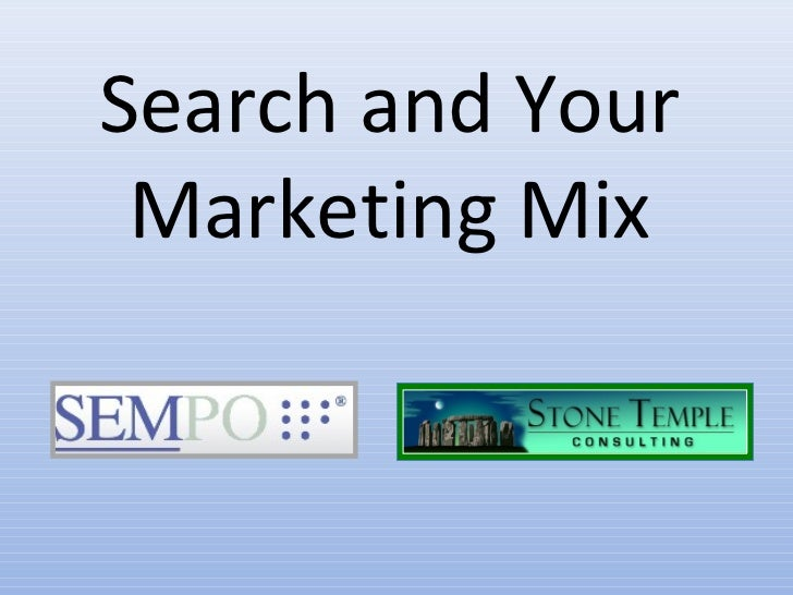 Search and Your Marketing Mix