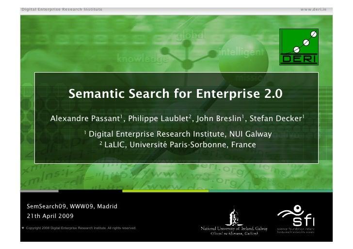 Semantic Search for Enterprise 2.0