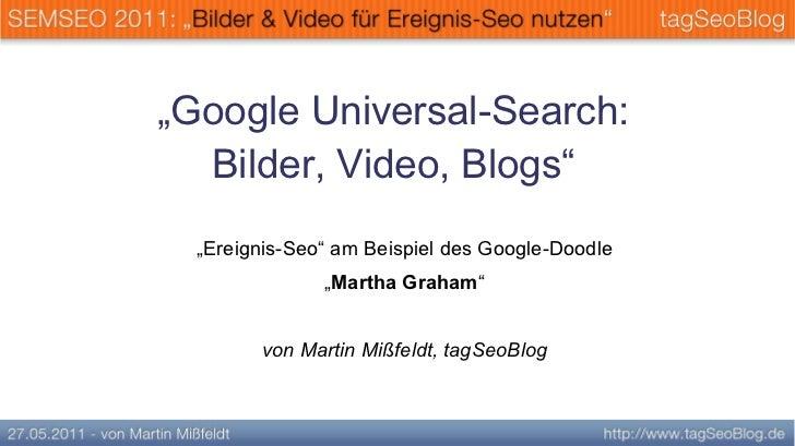 Ereignis-Seo mit Bilder & Video (Universal-search) SEMSEO 2011