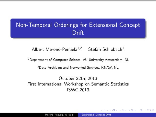 Non-Temporal Orderings for Extensional Concept Drift