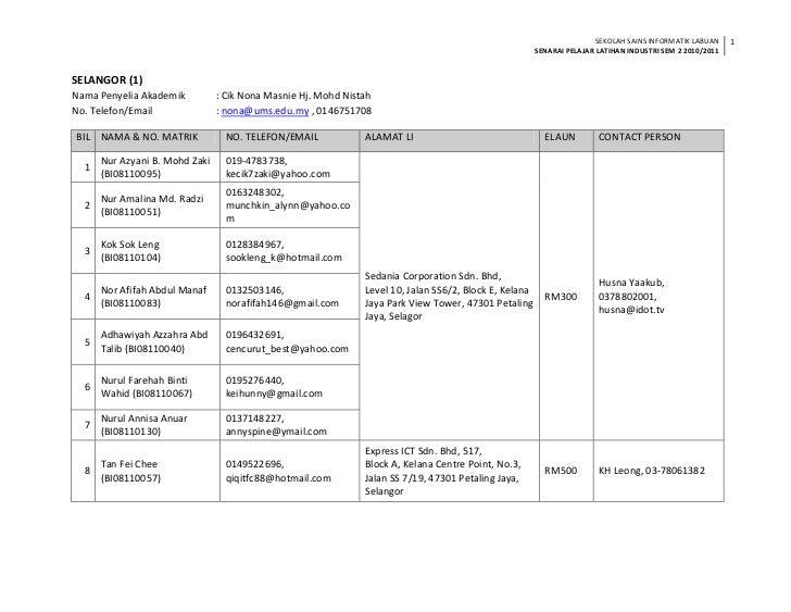 Senarai pelajar li sem2 20102011
