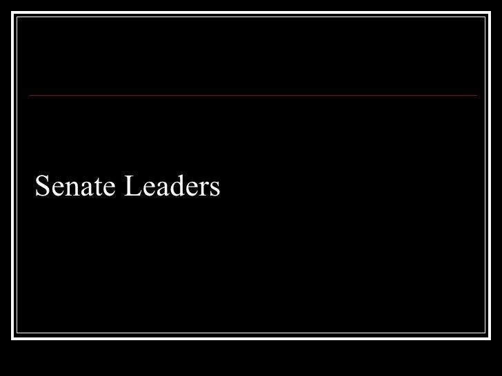 Senate leaders