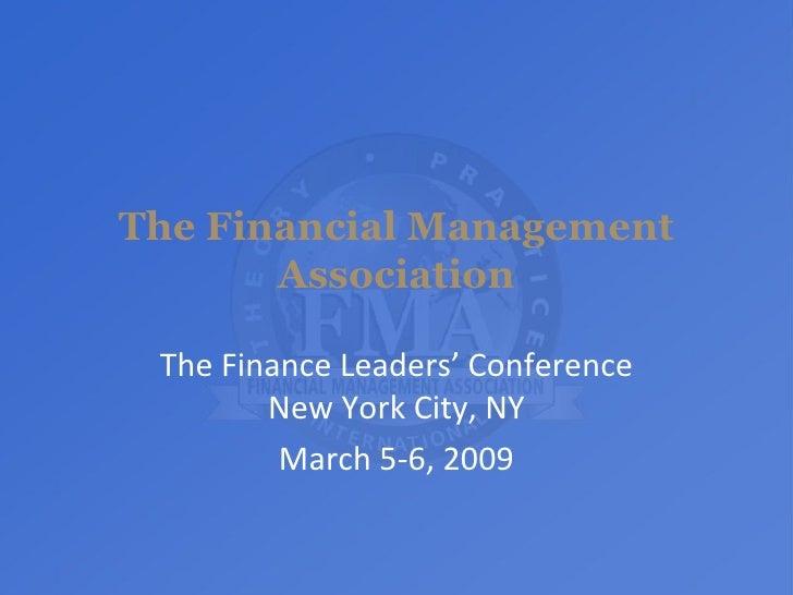 FMA Senate Presentation