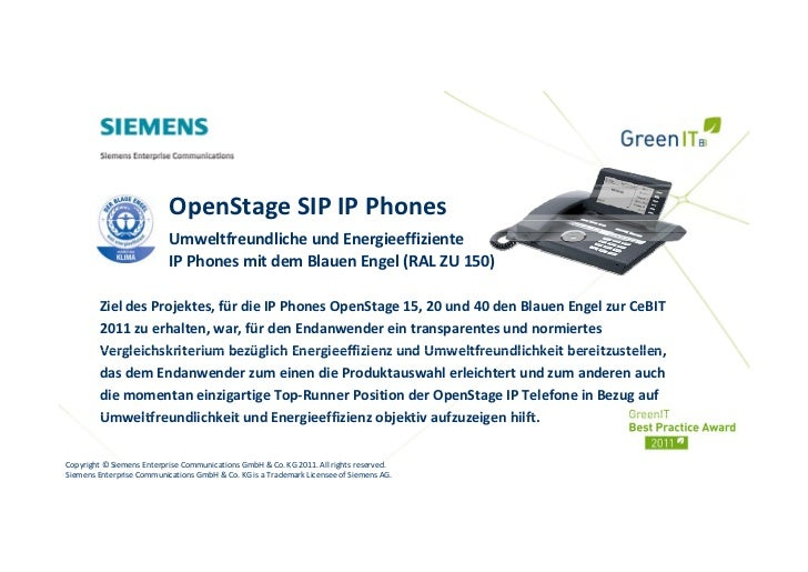 OpenStageSIPIPPhones                           UmweltfreundlicheundEnergieeffiziente                           IPPh...
