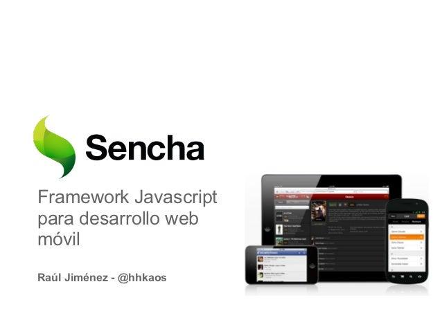 Sencha touch - Proceso básico de desarrollo
