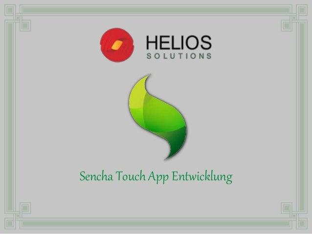 Sencha Touch App Entwicklung