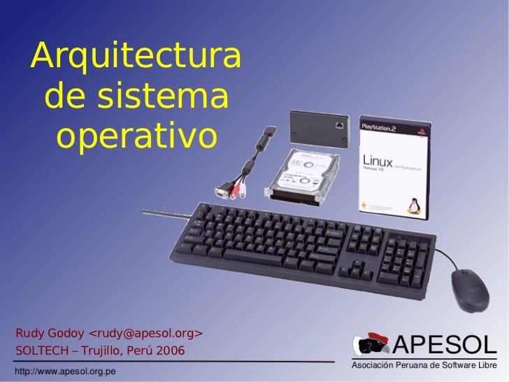 Sencico Soltech Sistema Operativo Rudy