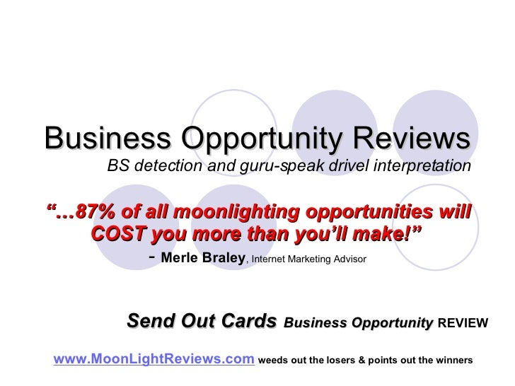 Send Out Cards Business Opportunity Review