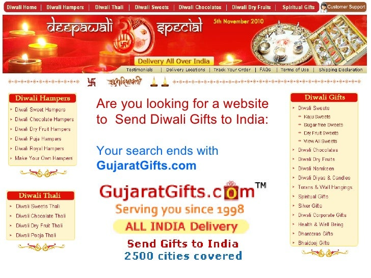 Are you looking for a website to  Send Diwali Gifts to India: Your search ends with  GujaratGifts.com