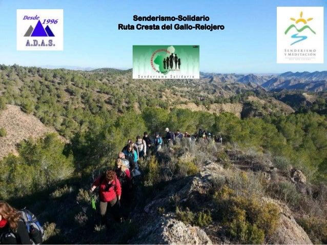 Senderismo-Solidario Ruta Cresta del Gallo-Relojero