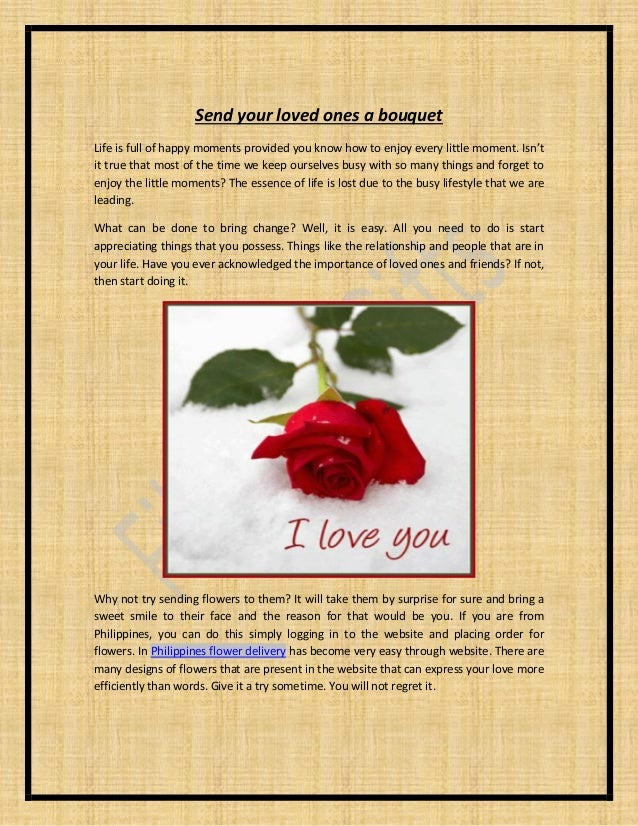 Send your loved ones a bouquet