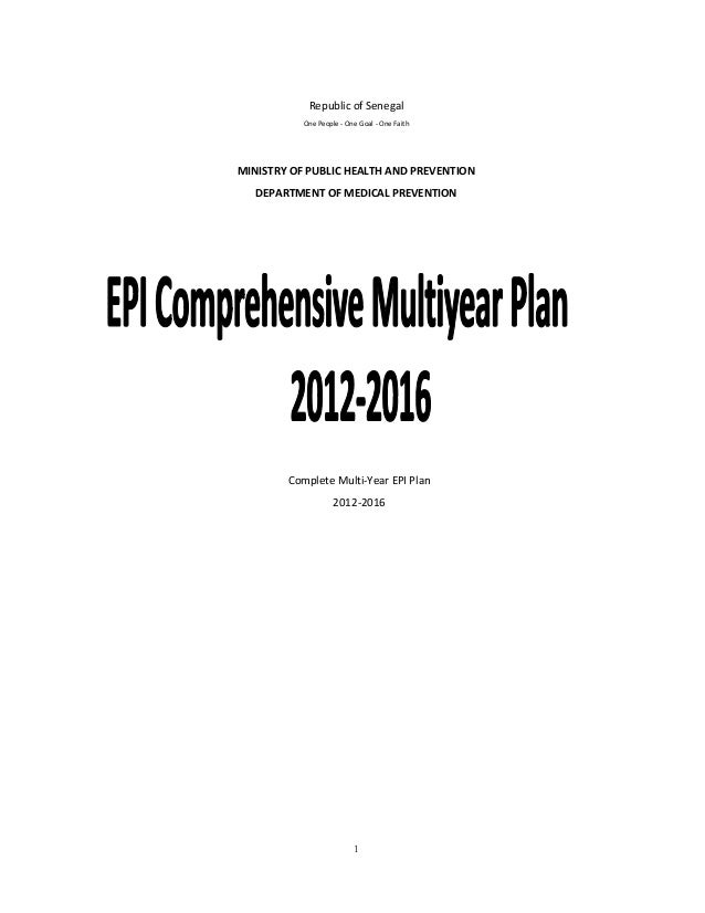 EPI Senegal comprehensive multi-year plan for 2012-2016