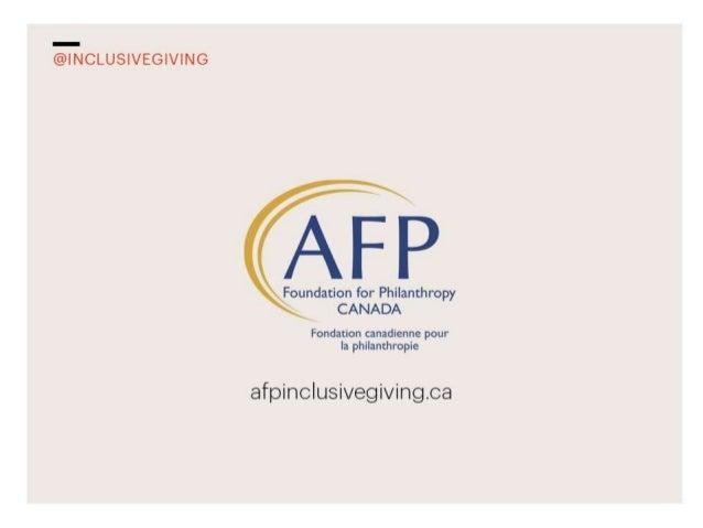 Inclusive Giving, AFP Leadership Academy, Houston 2012