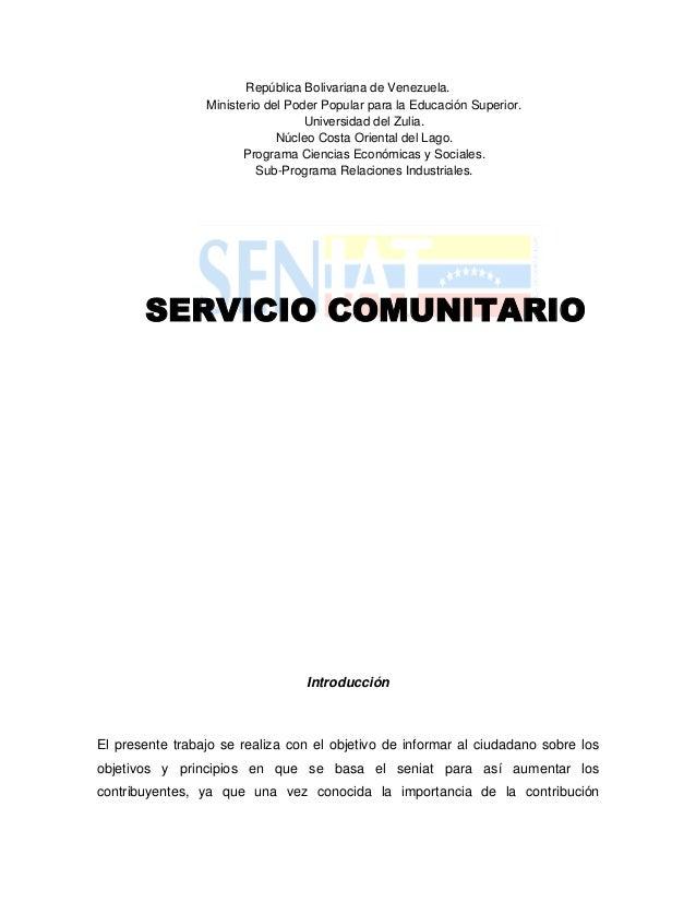 República Bolivariana de Venezuela.                 Ministerio del Poder Popular para la Educación Superior.              ...