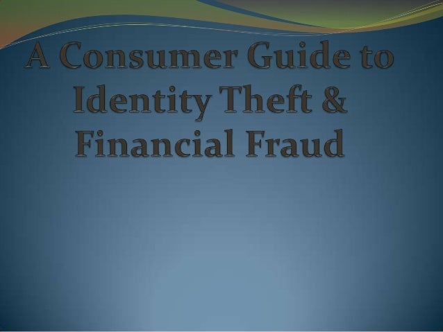 What is Identity Theft? The theft or misuse of personal identifying information in order to gain something of  value or fa...