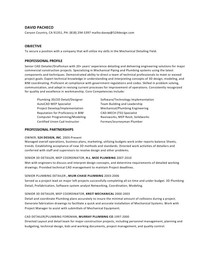 Hvac Resume Profile  ApigramCom
