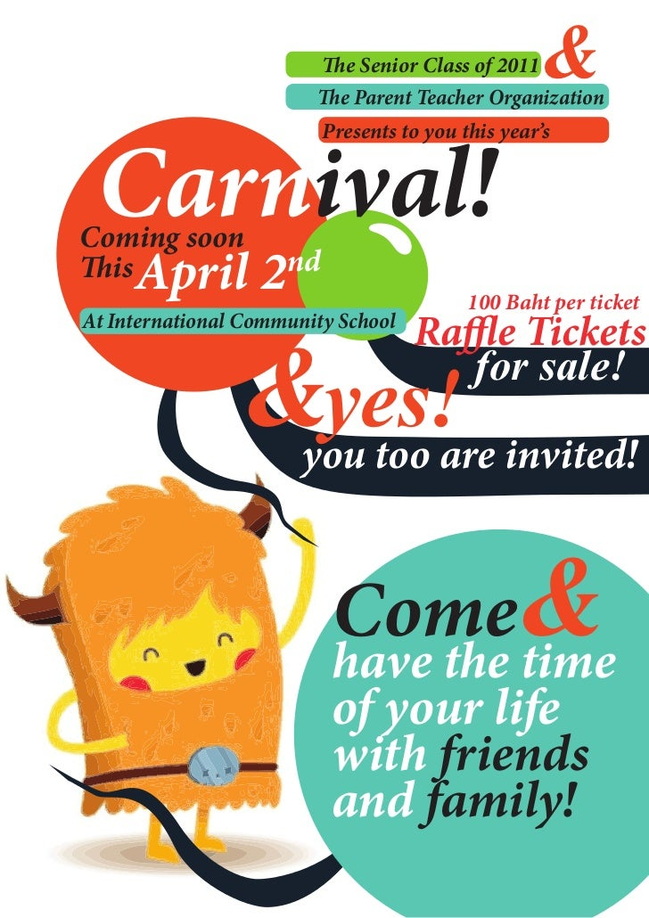 e Senior Class of 2011&                            e Parent Teacher Organization Carnival!                          Presen...