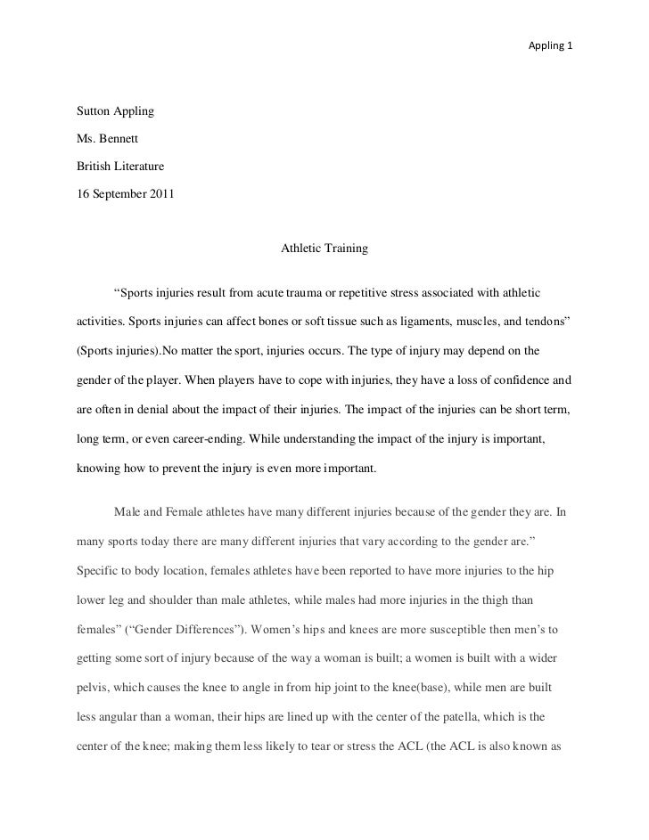 examples of essay outlines format