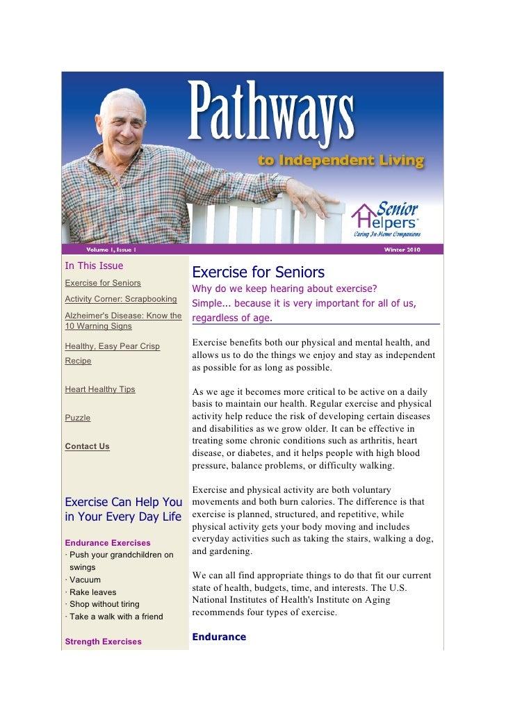 Senior Helpers Newsletter