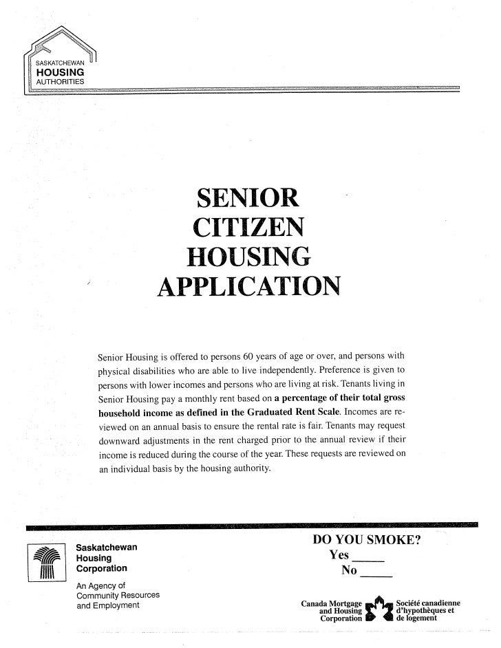 Senior housing application