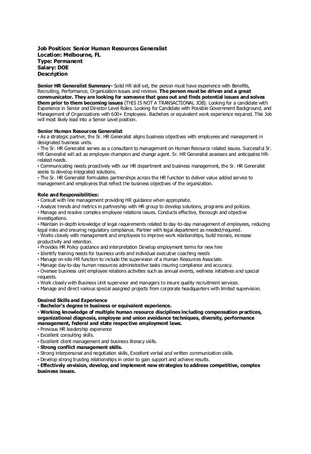 Example Cover Letter To Hr Department In Cover Letter Hr Resume