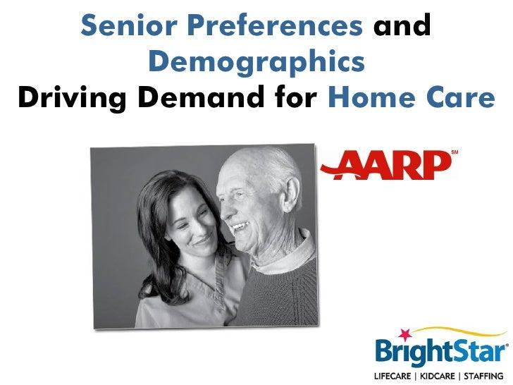 Senior Preferences and        DemographicsDriving Demand for Home Care