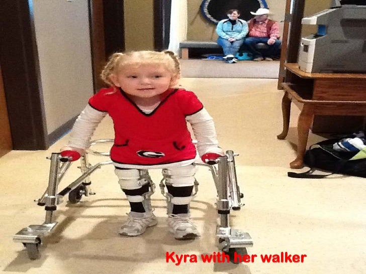 Kyra with her walker