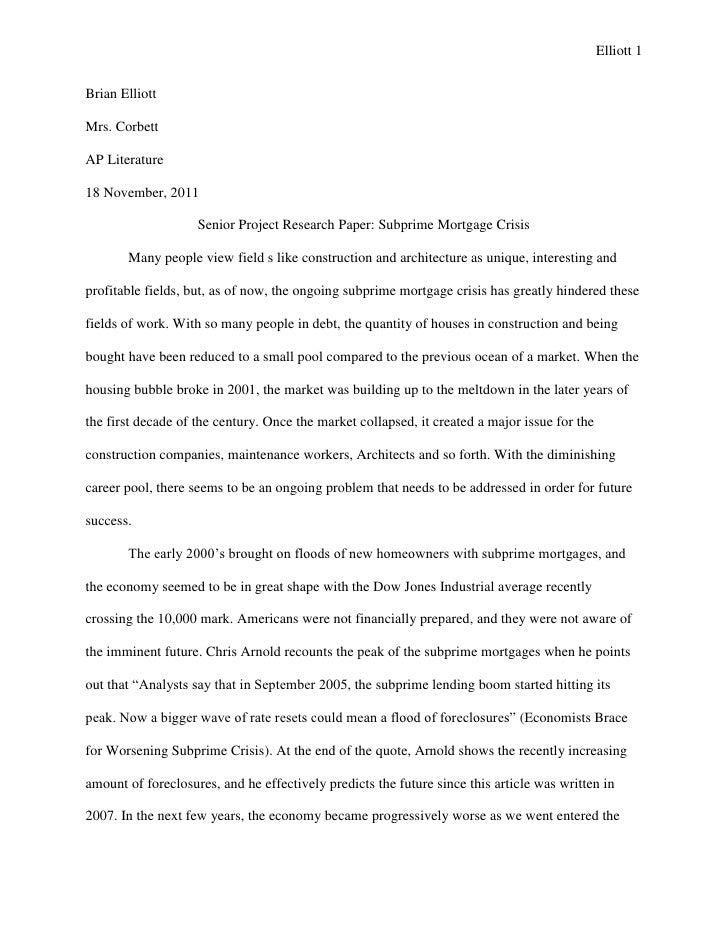 Meteorological term paper ideas