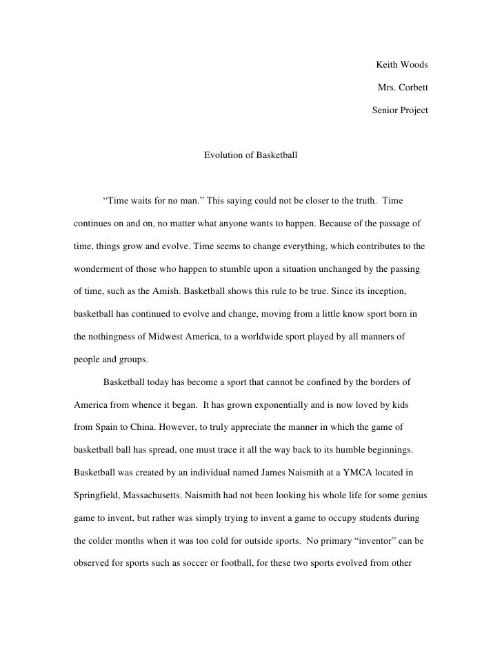 senior project essay introduction