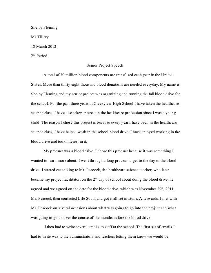 Senior Project Speech 2011-12
