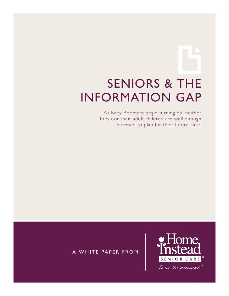 Seniors and the Information Gap: Home Care Sonoma County