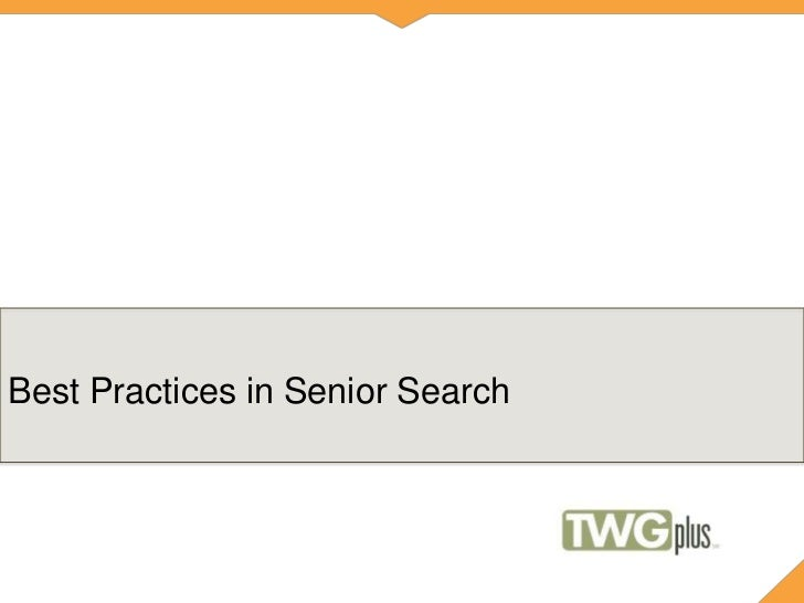 Best Practices in Senior Search for Higher Education