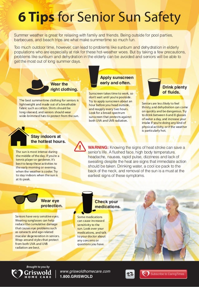 [INFOGRAPHIC] 6 Tips for Senior Sun Safety